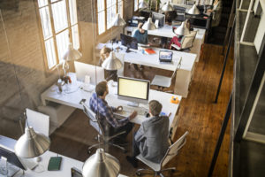 Top Talent working in a bright office